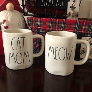 Rae Dunn CAT MOM & MEOW Mugs